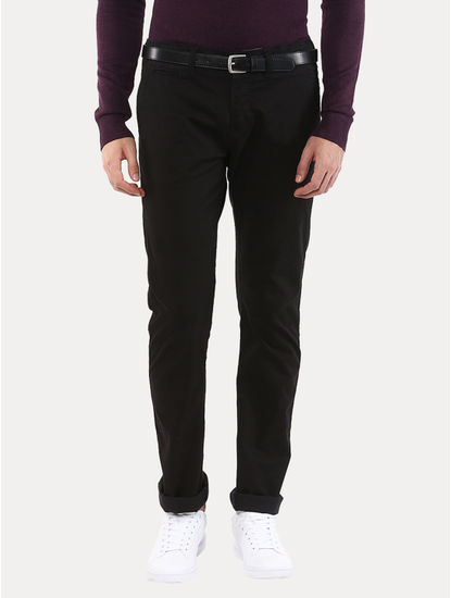 Fomone Black Straight Chinos