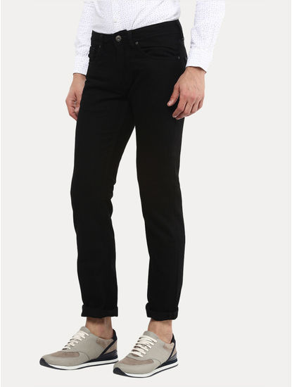 Black Straight Slim Fit Jeans