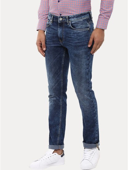 Blue Straight Slim Fit Jeans