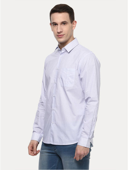 Violet Printed Casual Shirt