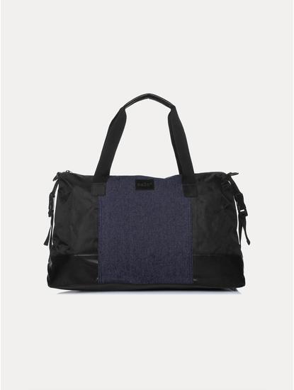 Indigo and Black Duffle Bag