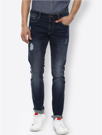 Navy Straight Jeans