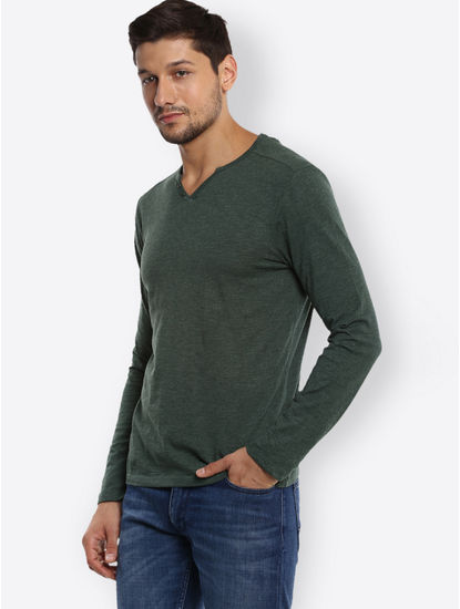 Green Melange T-Shirt
