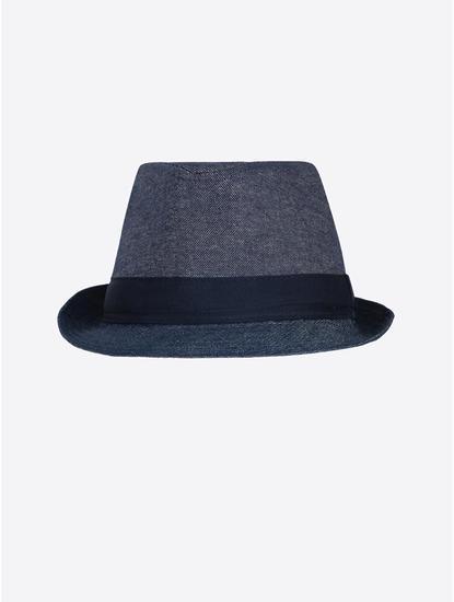Indigo Solid Fedora Hat