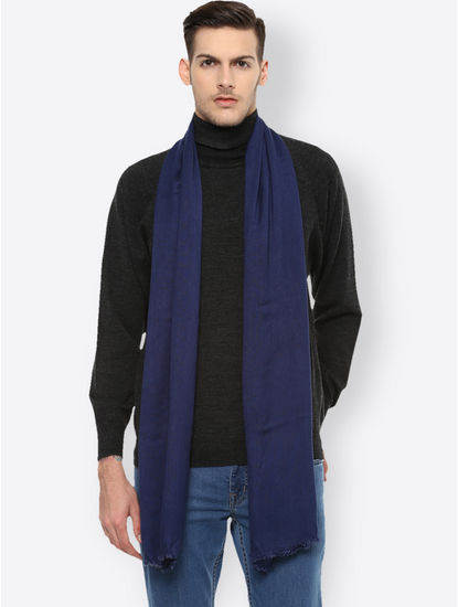 Blue Solid Stole