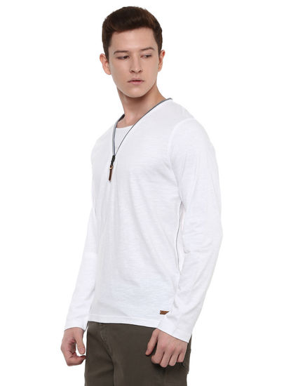 Optical White Solid T-Shirt