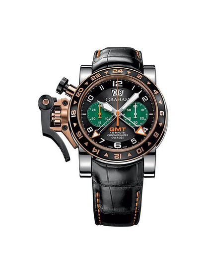 Chronofighter Oversize GMT Steel  Gold
