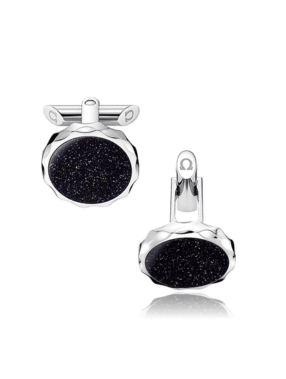 Stainless Steel  Aventurine Cufflinks