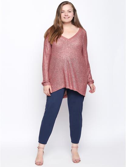 Rose Embellished Pullover