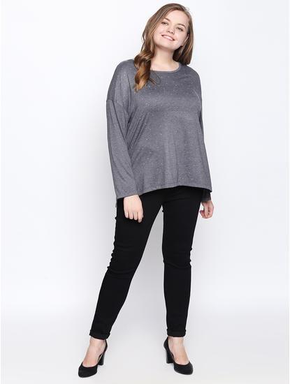 Dark Grey Printed T-shirt