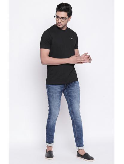 Black Fash Solid T-Shirt