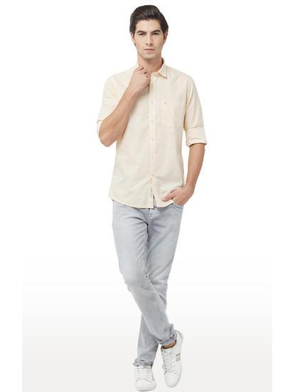 Yellow Striped Casual Shirt