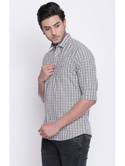Black and White Checked Casual Shirt