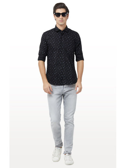 Black Printed Casual Shirt