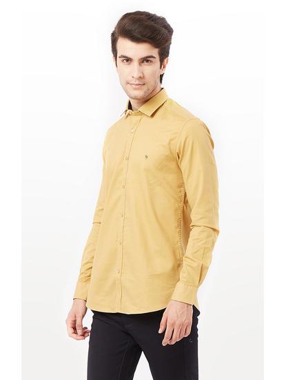 Light Khaki Solid Casual Shirt