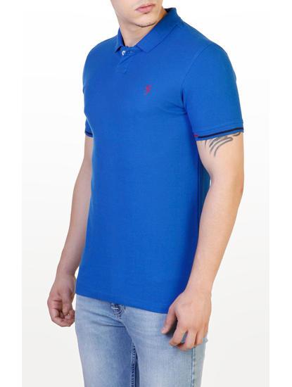 Royal Blue Solid Polo T-Shirt