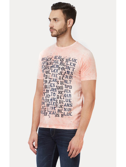 Peach Printed T-Shirt