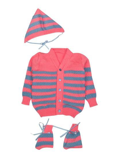 Mee Mee Baby Sweater Sets (Neon Pink, Blue)