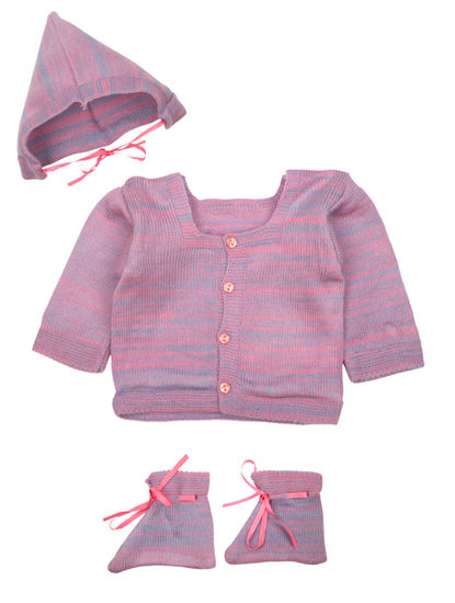 Mee Mee Baby Sweater Sets (Bubble Gum)