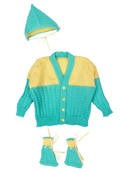 Mee Mee Baby Sweater Sets (Green, Yellow)