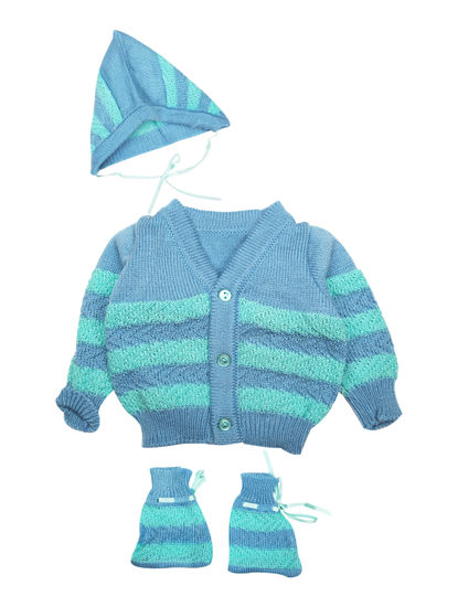 Mee Mee Baby Sweater Sets (Blue, Green)