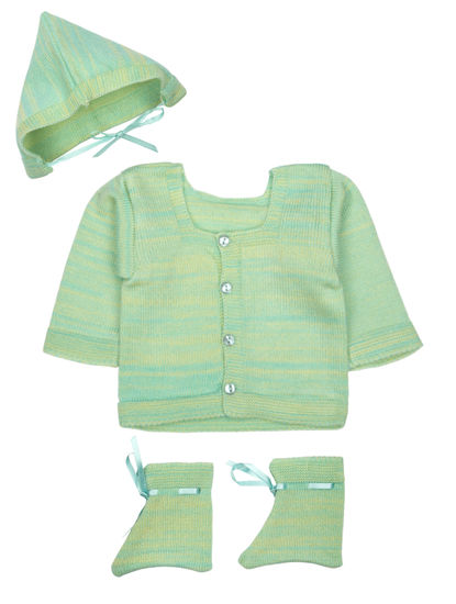 Mee Mee Baby Sweater Sets (Lime Mint)