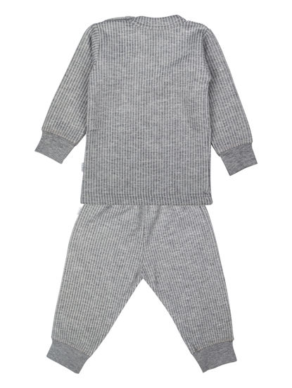 Mee Mee Full Sleeve Thermal Vest With Full Length Bottom (Grey)