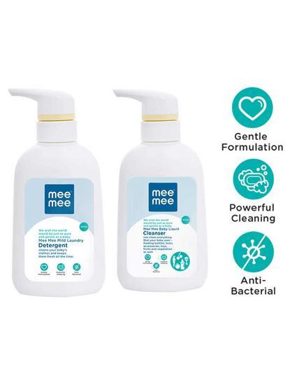 Mee Mee Mild Baby Liquid Laundry Detergent & Anti-Bacterial Baby Liquid Cleanser (300 ml)