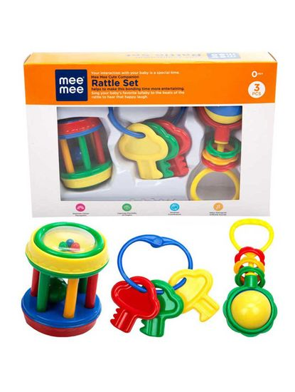 Mee Mee Baby Rattle Gift Set (3 Pieces)