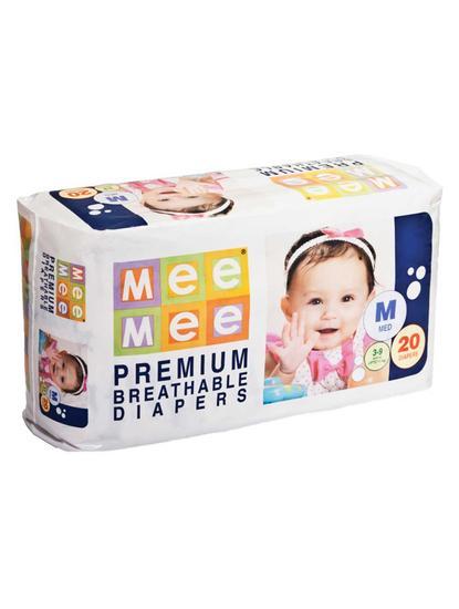 Mee Mee Premium Medium Size Diapers (20 Count)