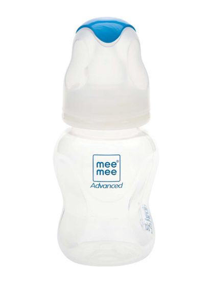 Mee Mee Milk Safe Feeding Bottle Advanced (White, 125 ml)