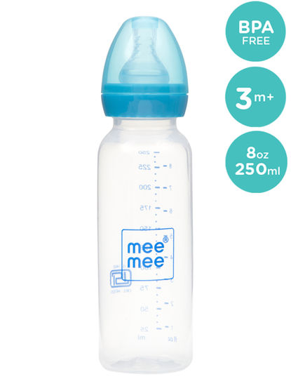 Mee Mee 2 In 1 Baby Feeding Bottle with Spoon - 250ml