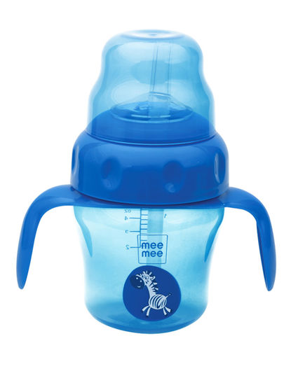 Mee Mee 2 in 1 Spout and Straw Sipper Cup (Blue)
