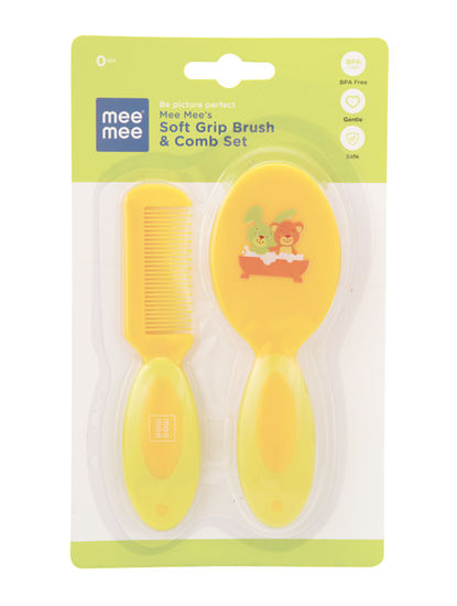 Mee Mee Soft Grip Brush & Comb Set (Green)