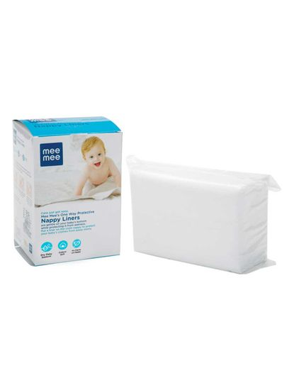 Mee Mee One-Way Protective Nappy Liners, 100 Count