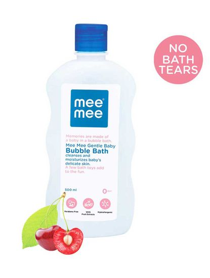 Mee Mee Gentle Baby Bubble Bath, White, 500ml