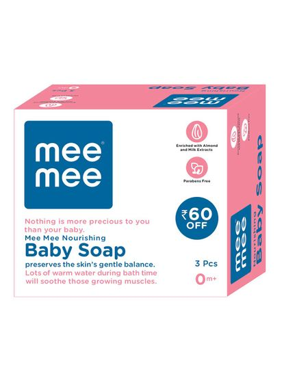 Mee Mee Nourishing Baby Wellness Soap (Pack of 3)