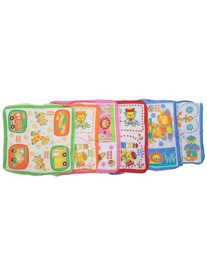 Mee Mee Baby Mini Napkins (Assorted, 6 Pieces)