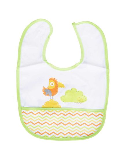 Mee Mee Double Layer Drooler Bib with Pocket Pack of 2