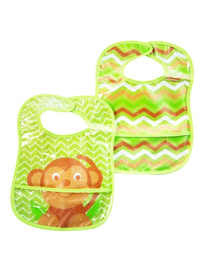 Mee Mee Water Resistant Drooler Bib with Pocket Pack of 2
