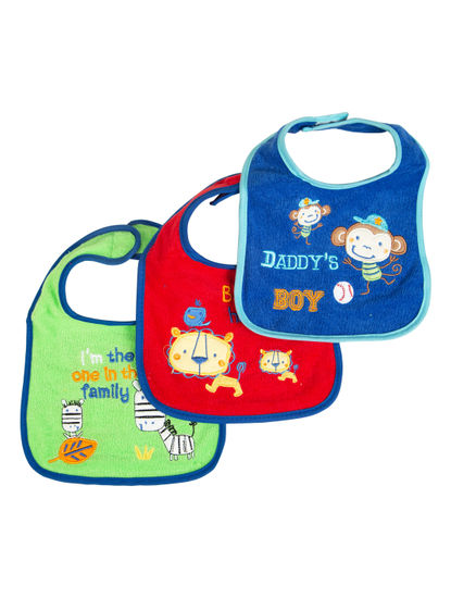 Mee Mee Baby Drooler Bib (Multicolour, Pack Of 3)