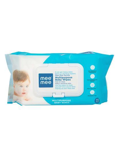 Mee Mee Baby Wipes (Gentle Multipurpose, 72 Pieces (Single Pack))