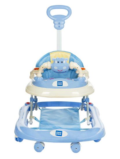 Mee Mee Baby Walker with Adjustable Height and Push Handle Bar