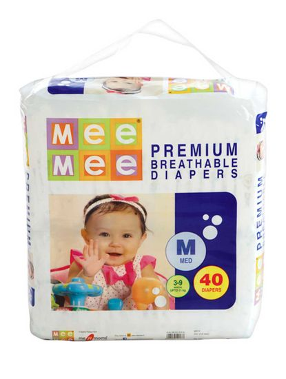 Mee Mee Premium Diapers (Medium, 40 Count)