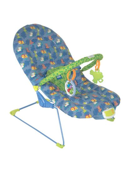 Mee Mee Vibrating and Soothing Baby Bouncer with Music and 2 Position Cushioned Seating