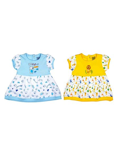 MEE MEE KIDS GIRLS FROCKS PACK OF 2