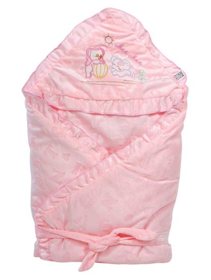Mee Mee Baby Wrapper with Hood (Pink)