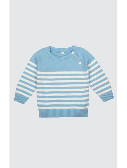 Mee Mee Full Sleeve Boys Striper Design Sweater (Navy)