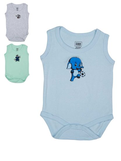 MEE MEE BOYS BODYSUIT PACK OF 3