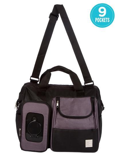 Mee Mee Multipurpose Diaper Bag (Black)